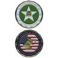 Army Combat Veteran Coin