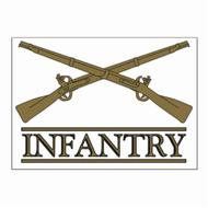 Crossed Rifle Infantry Decal