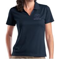 Ladies V-Neck Sport Shirt - Navy